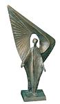 Engel Bronzeedelpatiniert