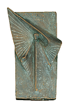 Engel-Relief Bronze