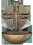 Bronze Weihwasserbecken