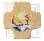 Holzkreuz Brot+Wein