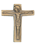 Bronzekreuz mit Christuskörper