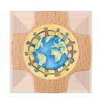 Holzkreuz Kinder der Welt