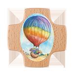 Holzkreuz Heißluftballon
