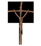 Bronzekreuz Papstkreuz