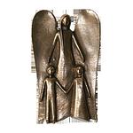 Engel-Relief Bronze Schutzengel