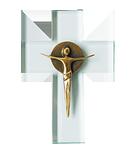 Glaskreuz + Bronze