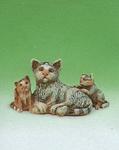 Tiroler Krippe: Katzen