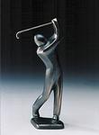 Golfer chippend