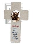Kalksteinkreuz + Bronze