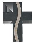 Schieferkreuz + Kalkstein