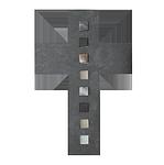 Schieferkreuz + Bronze + Glas