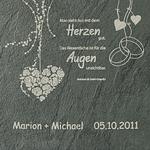Schieferrelief HOCHZEIT + GRAVUR