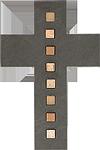 Schieferkreuz + Mosaiksteine