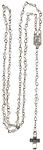 Rosenkranz Glas- Perle transparent