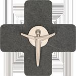 Schieferkreuz + Feinmetall