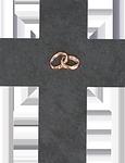 Schieferkreuz + Bronze