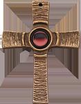 Kreuz mit rotem Stein