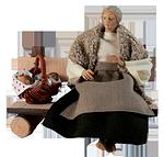 Ruco-Krippe: Hirtenfrau