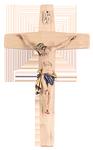 Holzkreuz mit Körper aus Holz