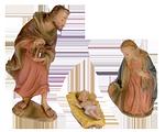 1 Niederrhein. Künstlerkrippe: Heilige Familie