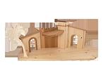 Krippenstall bis 15 cm Figurenhöhe
