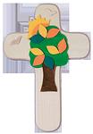 Kinderkreuz Lebensbaum + Sonne