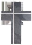 Schieferkreuz + Edelstahl