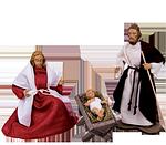 Ruco-Krippe: 1 Heilige Familie (SET-PREIS)