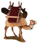 Ruco-Krippe: Kamel mit Gepäck