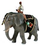 Ruco-Krippe: Elefantenreiter+Elefant
