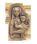 Madonna-Relief Bronze