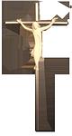 Edelstahlkreuz + Holzkörper