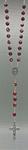 Rosenkranz Kunststoffperle rot marmoriert