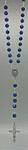 Rosenkranz Kunststoffperle blau marmoriert