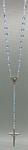 Rosenkranz Kunststoffperlen blau in Herzform