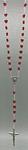 Rosenkranz Kunststoffperlen rot in Herzform