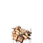 Fill-Krippe: Kamel Gepäck