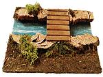 Bachlauf - Teilstück mit Brücke