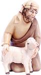 Hirte mit Schaf (lasiert)