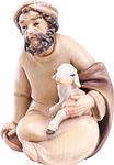 Hirte mit Lamm sitzend (lasiert)