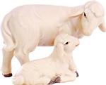 Schaf mit Lamm (lasiert)